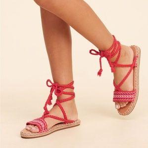 Hollister Wrap Sandals Size 7